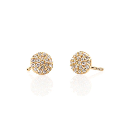 Bottled Earring - Round Pave
