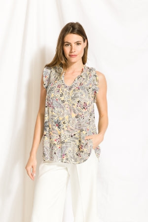 Paisley Smocked Blouse