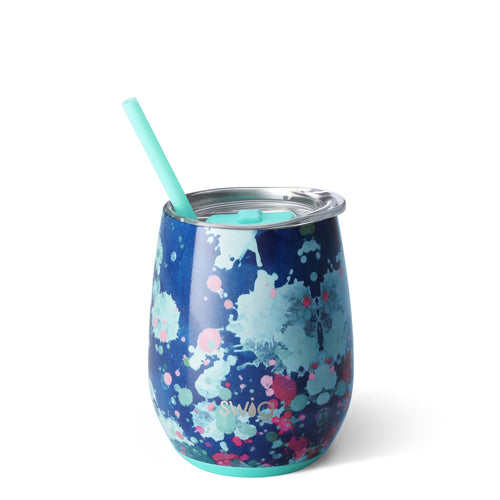 Artist Stemless Wine Cup with Straw
