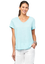 Load image into Gallery viewer, Piping Detail V-neck Tee