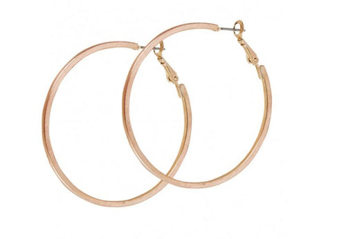 Thin Rose Gold Hoop