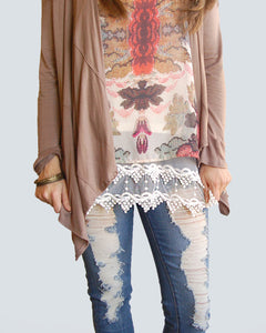 Pointed Lace Top Extender