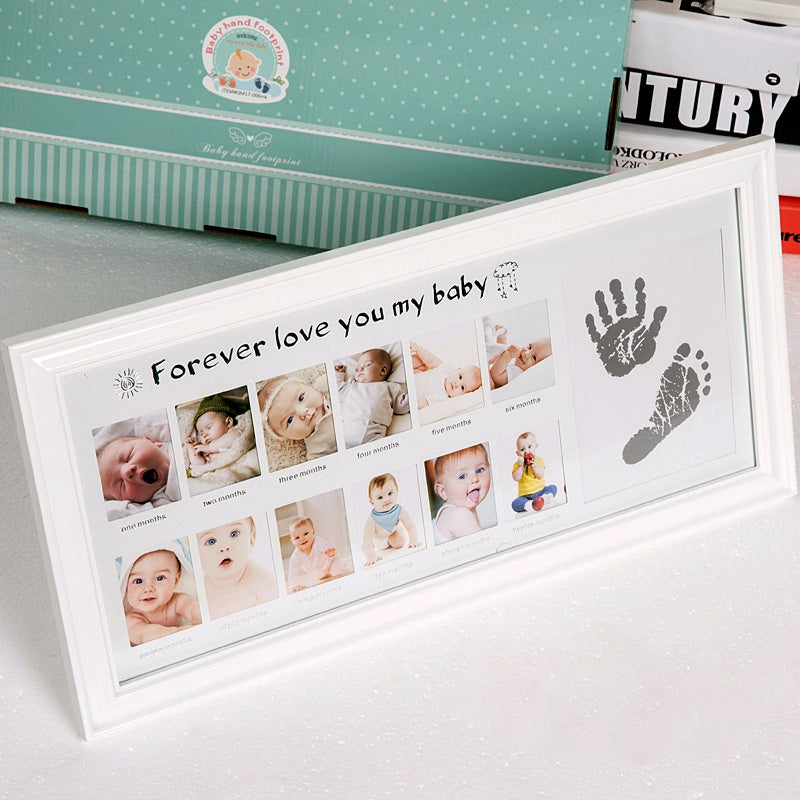 Baby Photo Frame with Handprint Footprint Inkpad