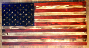 Rustic United States Wood Flag