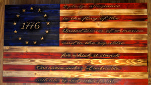 1776 Betsy Ross Rustic Style Flag