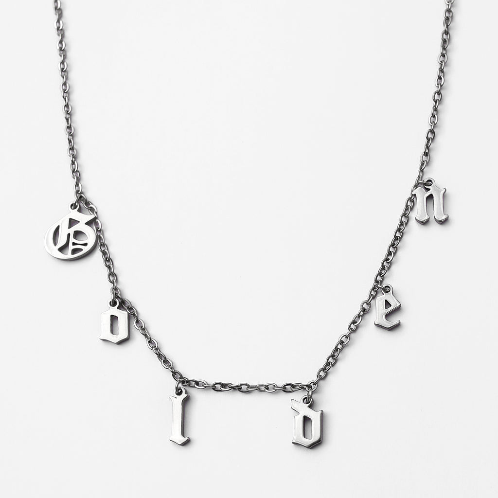 Personalized Custom Charm Necklace - Classic Stainless Steel
