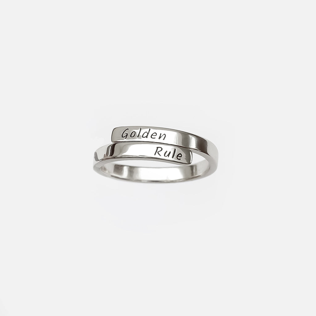 Personalized Custom Engraved Ring - Elegant 925 Silver Plated