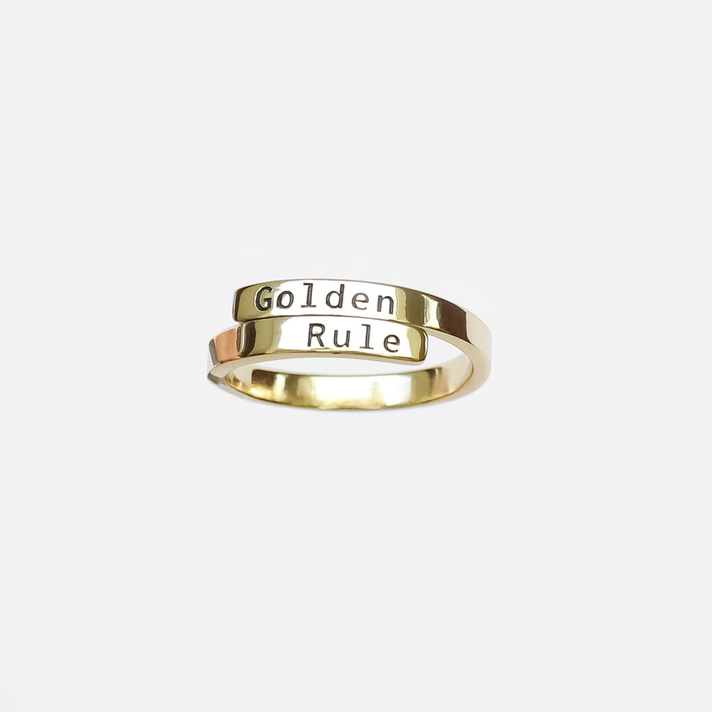 Personalized Custom Engraved Ring - Vintage 18k Gold Plated