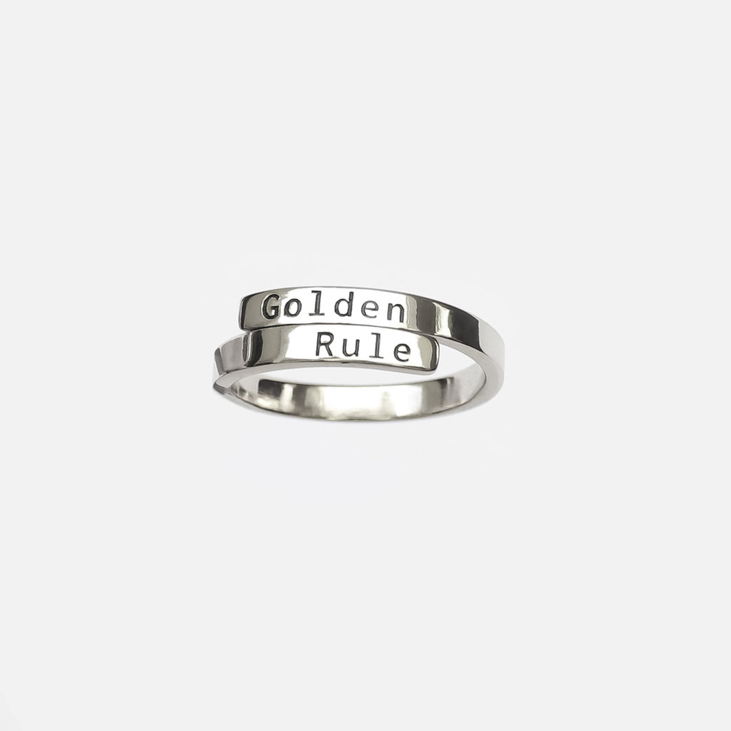 Personalized Custom Engraved Ring - Vintage 925 Silver Plated