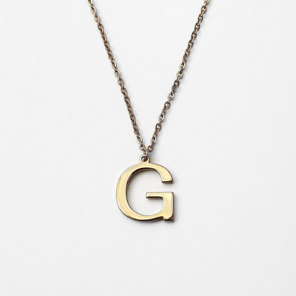 Personalized Custom Initial Necklace - Bold