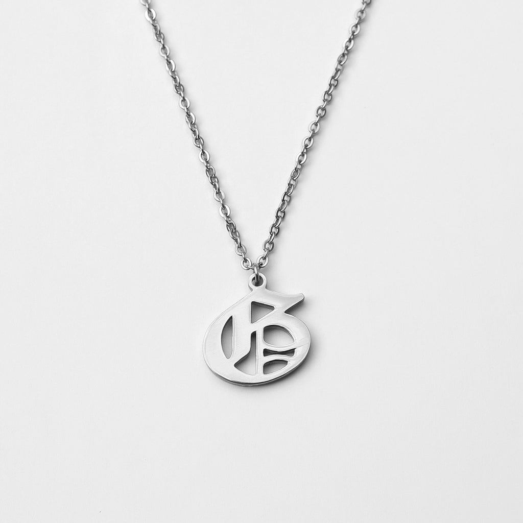 Personalized Custom Initial Necklace - Classic Stainless Steel