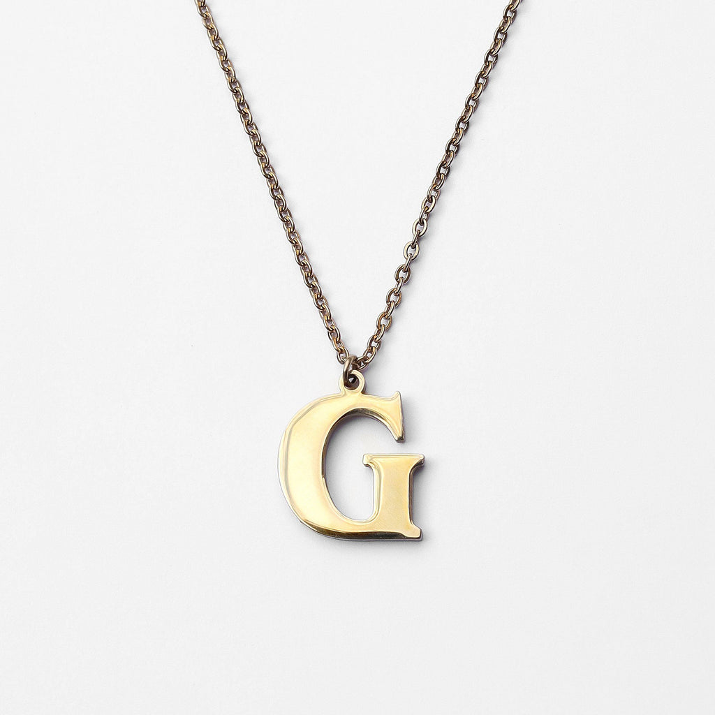 Personalized Custom Initial Necklace - Modern