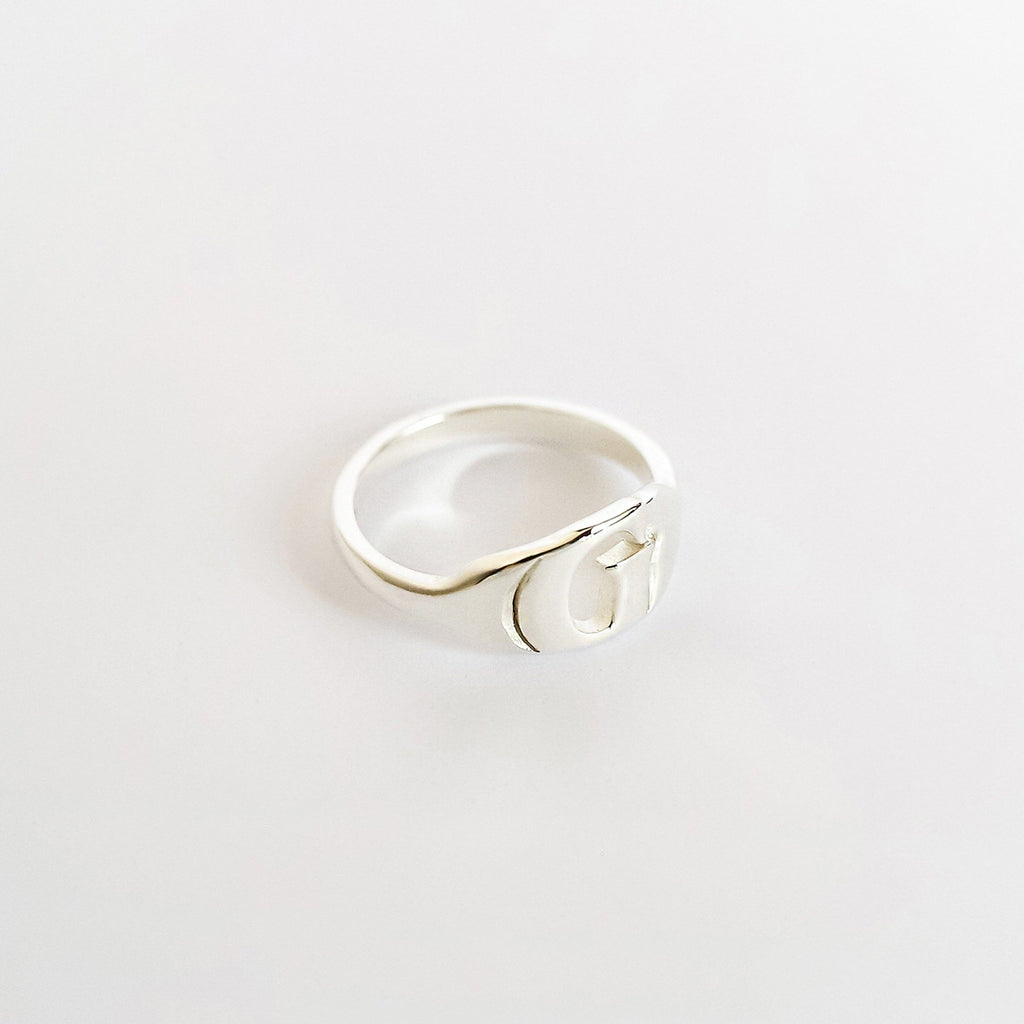Personalized Custom Initial Ring - Modern 925 Silver Plated
