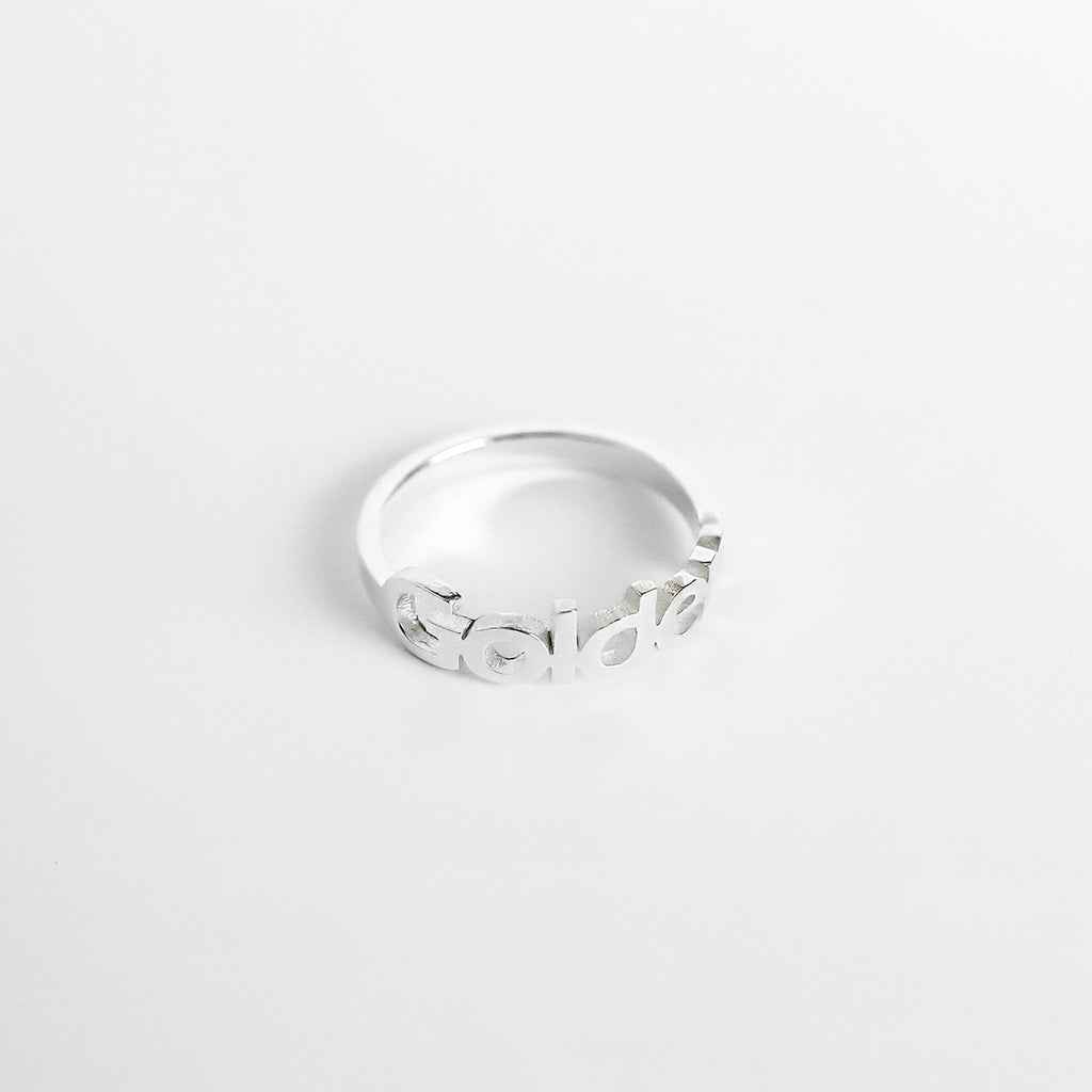 Personalized Custom Name Ring - Modern 925 Silver Plated