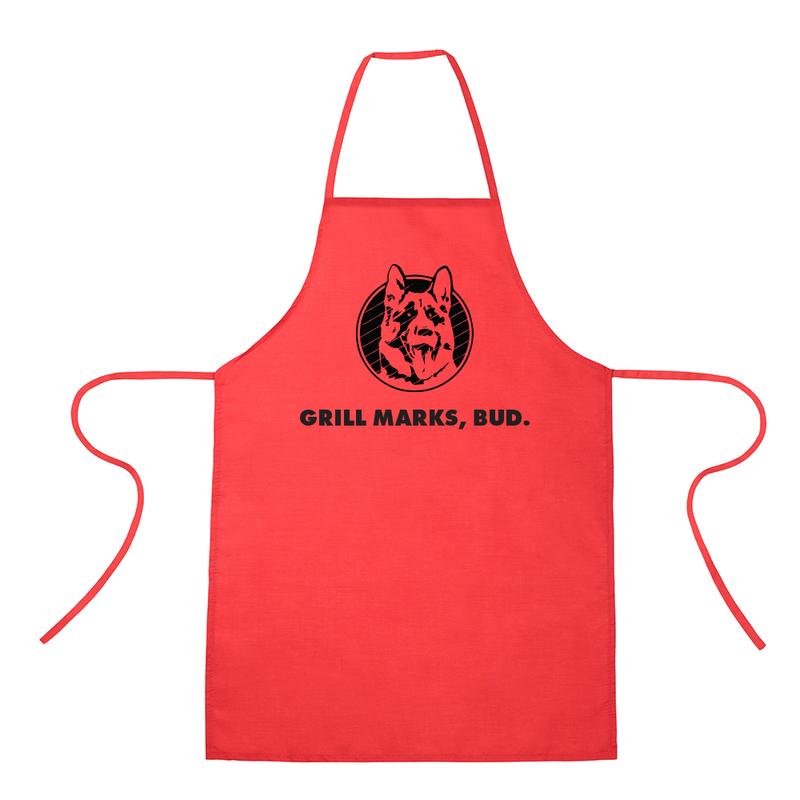 Grill Marks Bud Red Apron