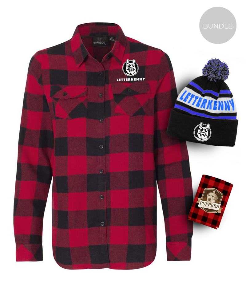 Women's Warm Bundle - Flannel, Toque, Koozie