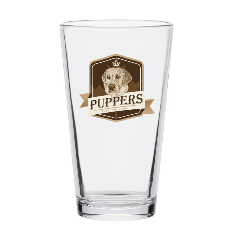 Puppers Full Colour Pint Glass