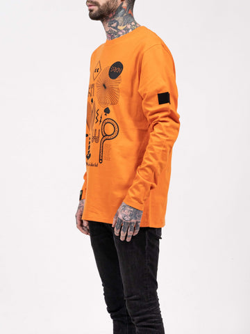 Orange Anomalys Longsleeve Tee