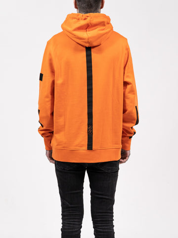 Orange Panel Hoodie