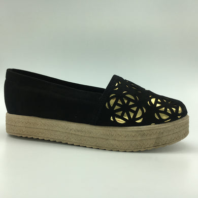 B-91 Mocasin Laser - Color Negro-Oro