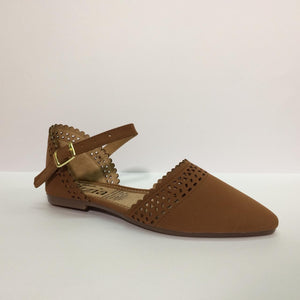 B-12 Flat Punta - Color Camel