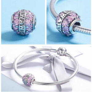 "Charm Boule ""MoM"" compatible Pandora - Crystalissime"