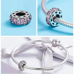 Charm Cristal Blanc et Rose - Crystalissime