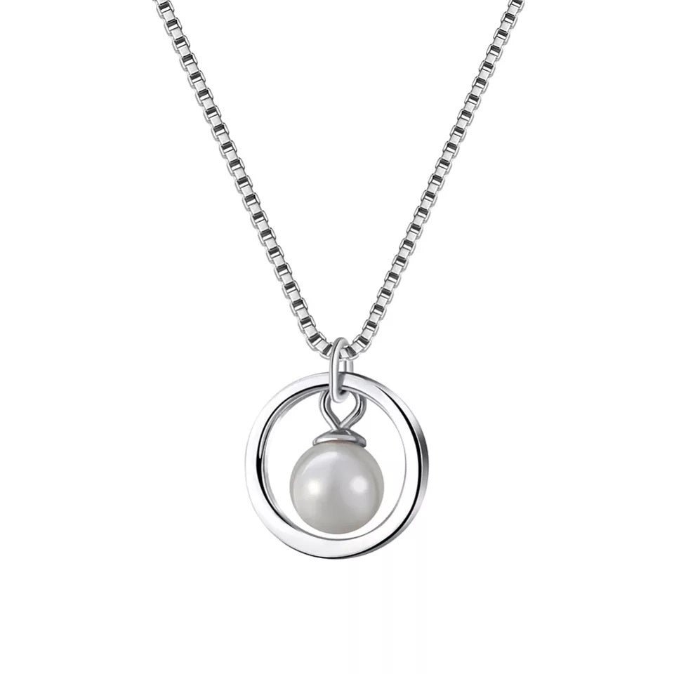 Collier Cercle et Perle - Crystalissime