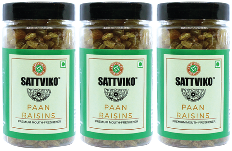 Sattviko Paan Raisin Jar (110g each) - Pack of 3