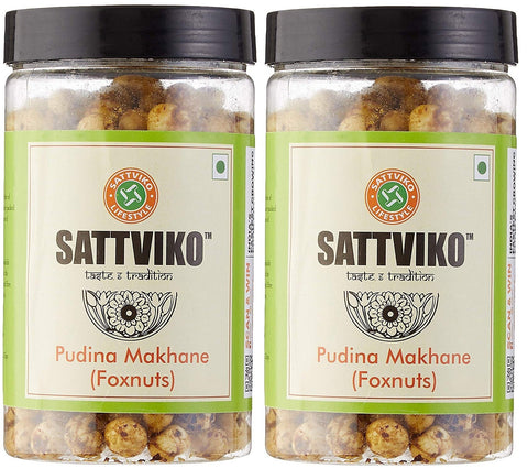 Sattviko Pudina Makhane Jar - Pack of 2