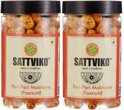 Sattviko Peri Peri Makhane Jar - Pack of 2