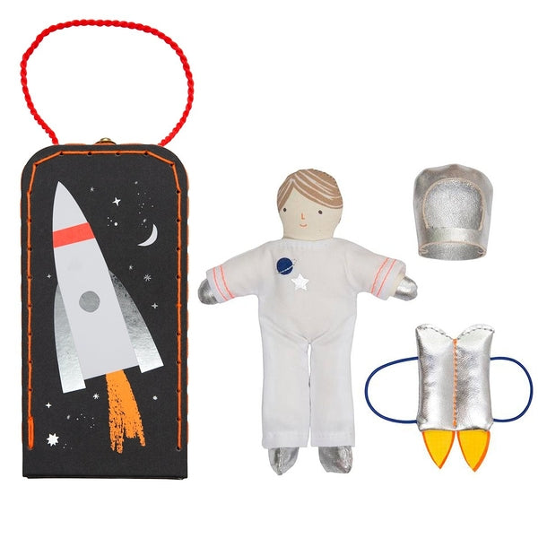 Astronaut Mini Suitcase Doll - dress-up.gr
