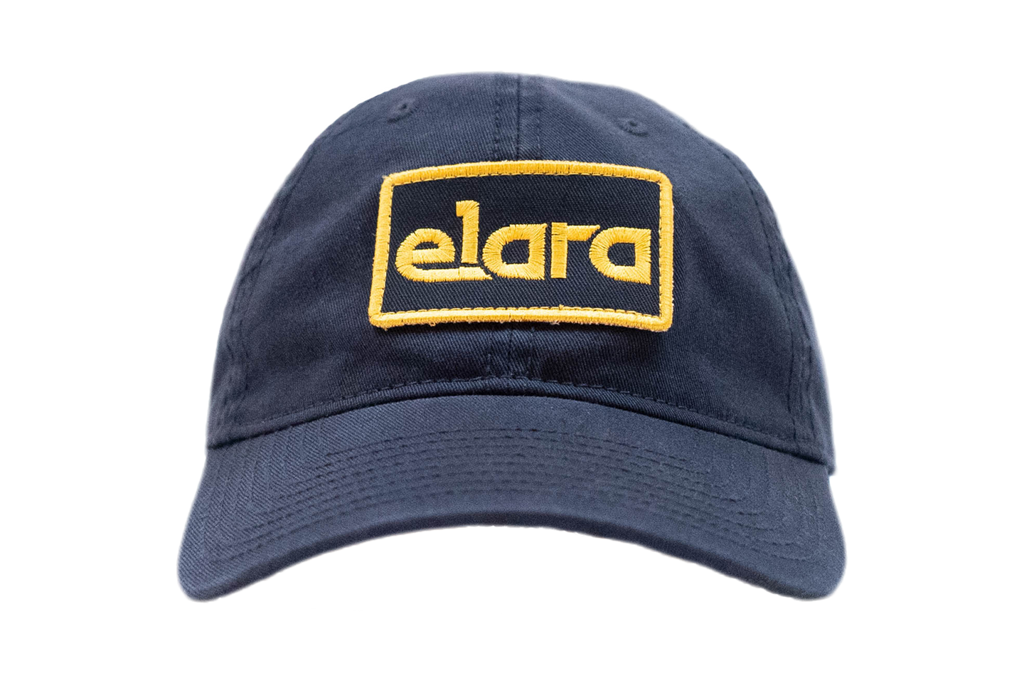 YELLOW & NAVY ELARA PATCH HAT