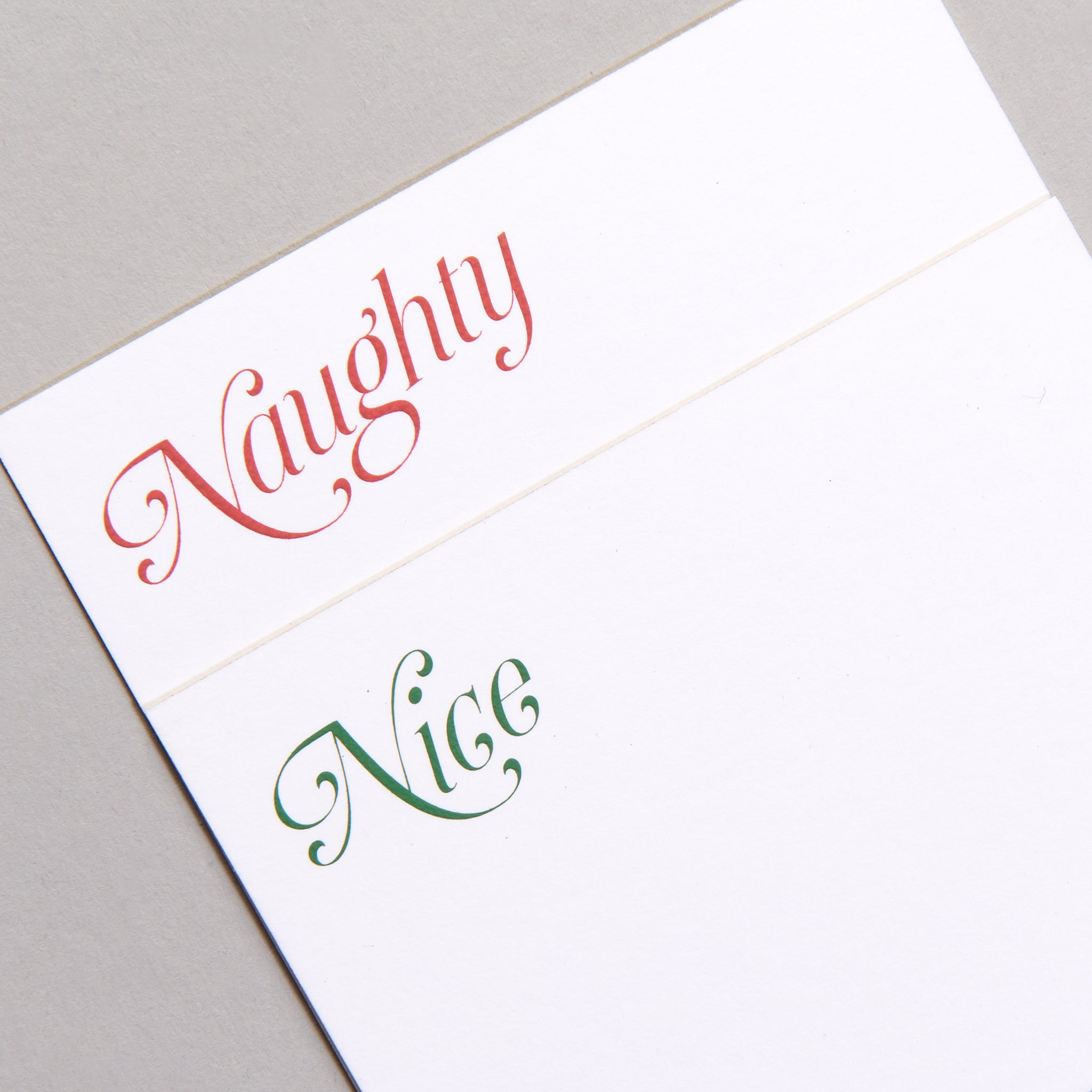 Santa's List Place Cards