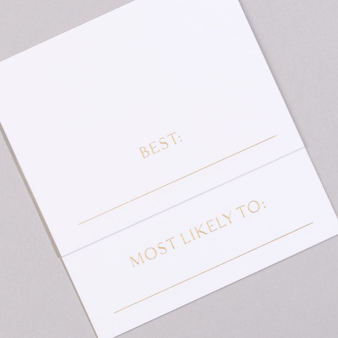 Superlatives Place Cards