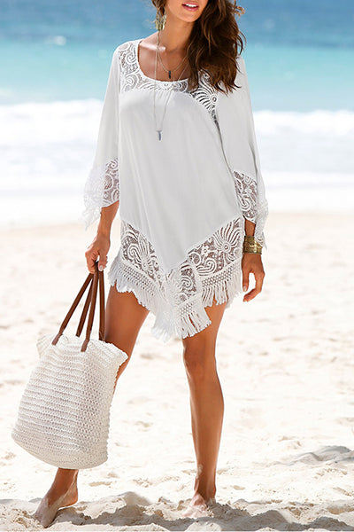 FSY White Lace Cover Ups
