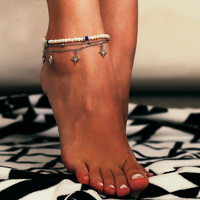 FSY Star Beaded Multi-Layered Anklet