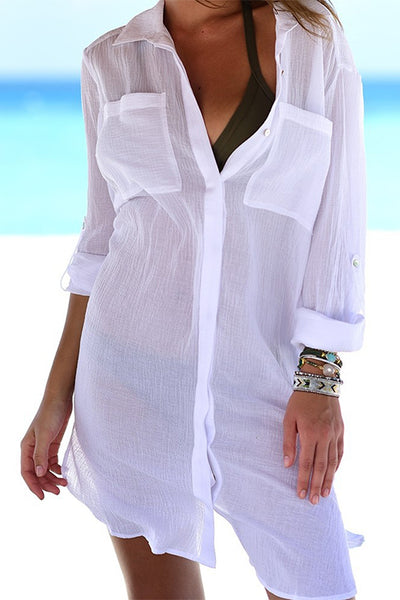 FSY Beach Shirt Thin Bikini Cover Up