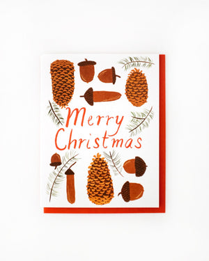 Cones And 'Corns Merry Christmas Card