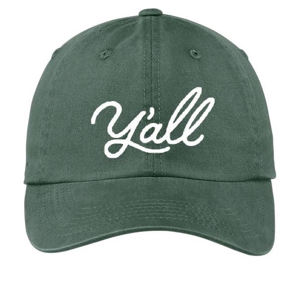 Cursive Y'all Baseball Cap