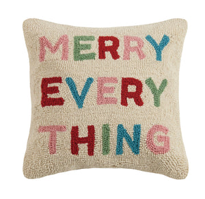 Merry Everything Hook Pillow