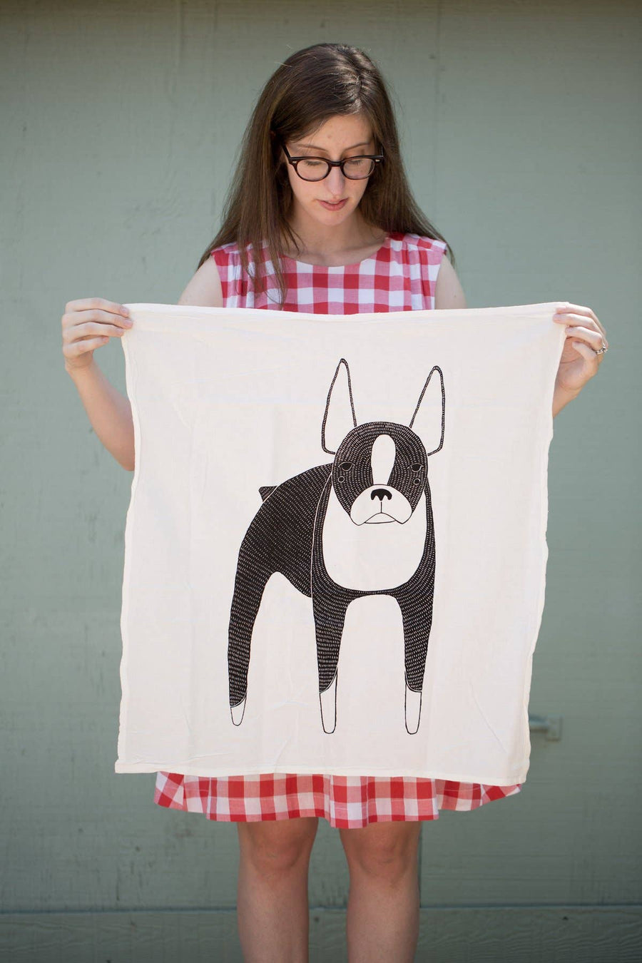 Boston Terrier Tea Towel
