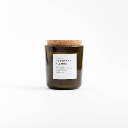 Rosemary + Lemon Tumbler Candle