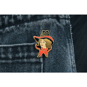 Gold Cowgirl Pin
