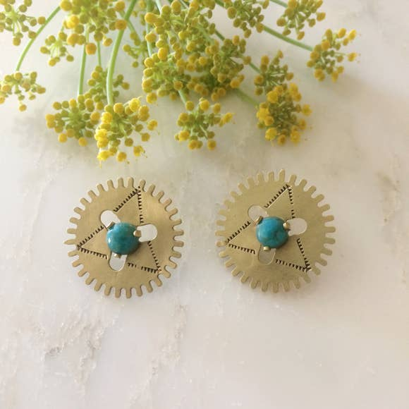 Windmill Earrings in Turquoise