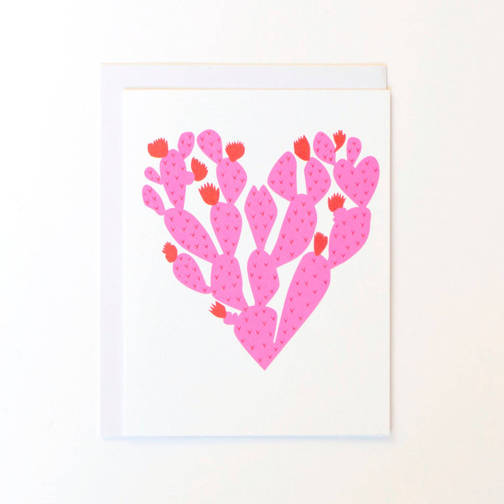 Paddle Cactus Heart Note Card