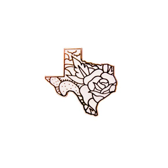 Rose Gold Texas Pin