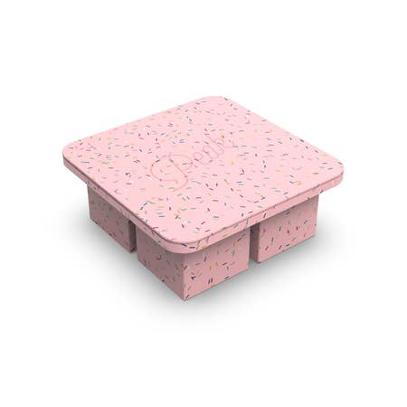 Extra Large Ice Cube Tray in Speckled Pink