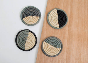 Opal Gray Dipped Coasters