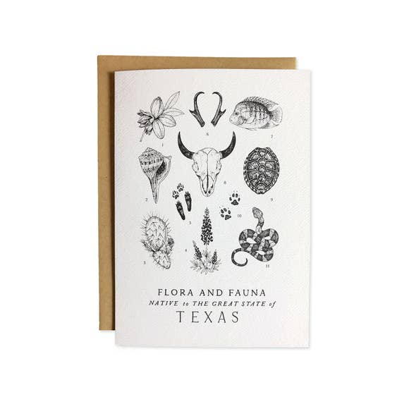 Texas Field Guide Greeting Card